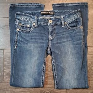 ❤EXPRESS STELLA LOW-RISE BOOTCUT JEANS, 2s (26s)